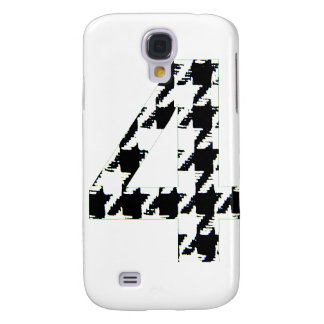 Houndstooth Print Number Four Galaxy S4 Cover