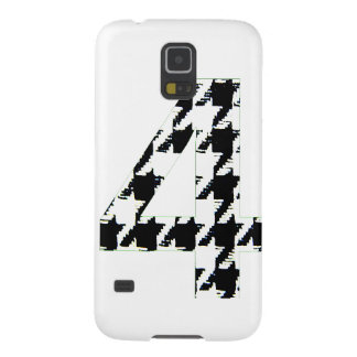 Houndstooth Print Number Four Galaxy S5 Case