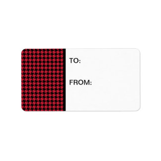 Houndstooth Red and Black Label