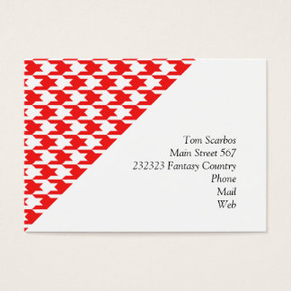 houndstooth red (I) Business Card