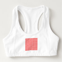 houndstooth red (I) Sports Bra