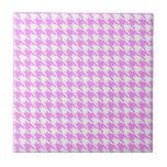 Houndstooth rosado azulejos