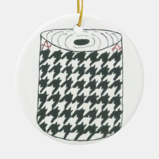 """HOUNDSTOOTH"" Round Ornament"
