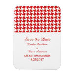 Houndstooth Save the Date Magnet, Red
