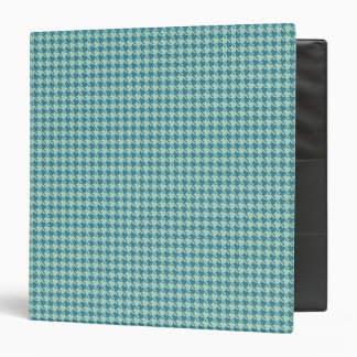 Houndstooth Seafoam and Teal Binder