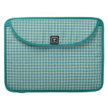 Houndstooth Seafoam and Teal Sleeves For MacBook Pro