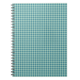 Houndstooth Seafoam and Teal Spiral Notebooks