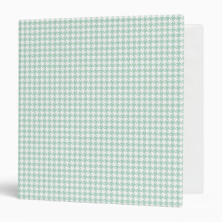 Houndstooth Seafoam and White Binder
