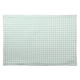 Houndstooth Seafoam and White Cloth Placemat