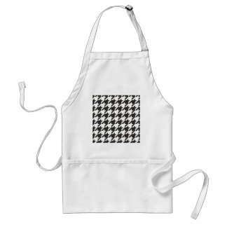 Houndstooth seamless grey, black and white pattern adult apron