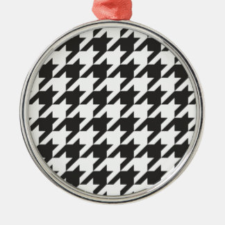 Houndstooth seamless grey, black and white pattern christmas ornaments