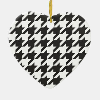 Houndstooth seamless grey, black and white pattern ornaments