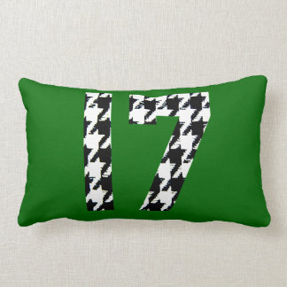 Houndstooth Seventeen Lumbar Pillow