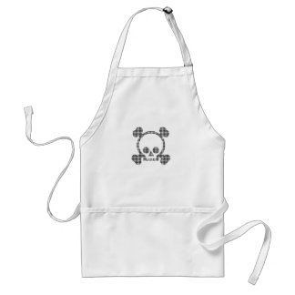 houndstooth skull adult apron