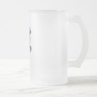 Houndstooth skull frosted glass beer mug