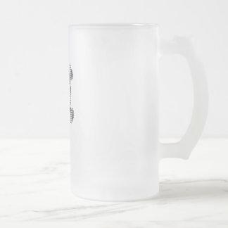 Houndstooth skull 16 oz frosted glass beer mug