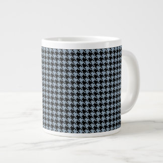 Houndstooth Slate and Black Large Coffee Mug