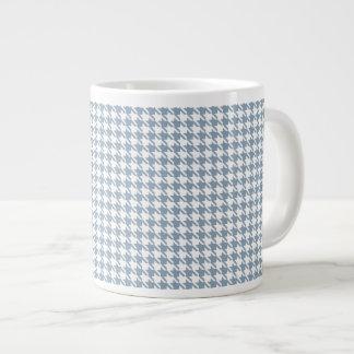 Houndstooth Slate and White Giant Coffee Mug