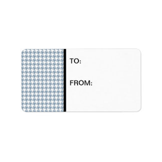 Houndstooth Slate and White Address Label