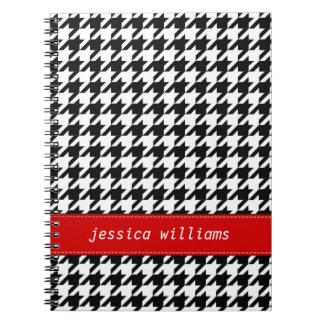 Houndstooth Spiral Notebook