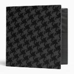 Houndstooth Style Black on Black Textured Pattern Binder