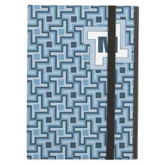Houndstooth Style Geometric Tessellation in Blue iPad Air Case