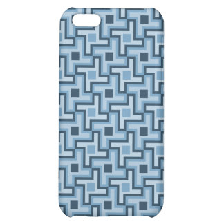 Houndstooth Style Geometric Tessellation in Blue iPhone 5C Case