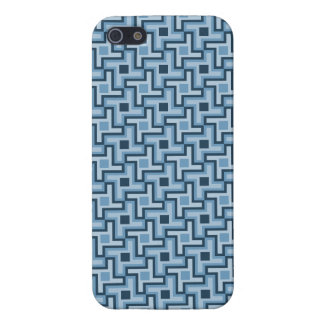 Houndstooth Style Geometric Tessellation in Blue iPhone 5 Case