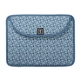 Houndstooth Style Geometric Tessellation in Blue Sleeve For MacBooks