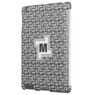 Houndstooth Style Geometric Tessellation in Grey