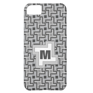Houndstooth Style Geometric Tessellation in Grey iPhone 5C Cover