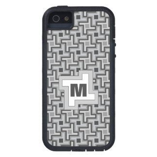 Houndstooth Style Geometric Tessellation in Grey Cover For iPhone 5