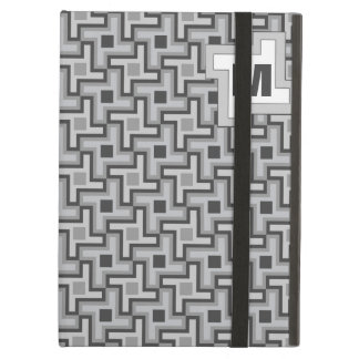 Houndstooth Style Geometric Tessellation in Grey iPad Air Cover
