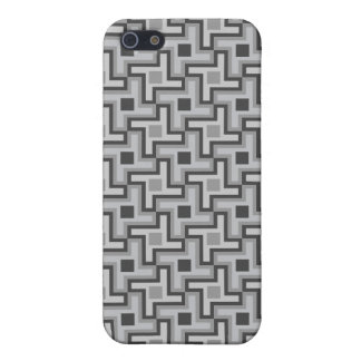 Houndstooth Style Geometric Tessellation in Grey iPhone 5 Cases