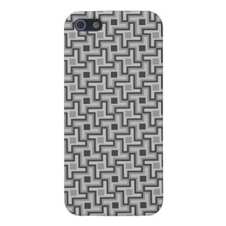 Houndstooth Style Geometric Tessellation in Grey iPhone 5 Cover