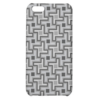 Houndstooth Style Geometric Tessellation in Grey iPhone 5C Case