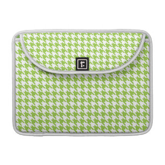 Houndstooth verde funda macbook pro