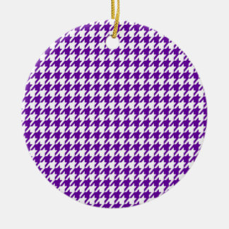 Houndstooth violeta oscuro ornamente de reyes