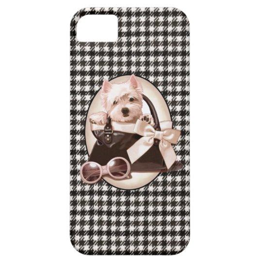 Houndstooth Westie puppy iPhone SE/5/5s Case