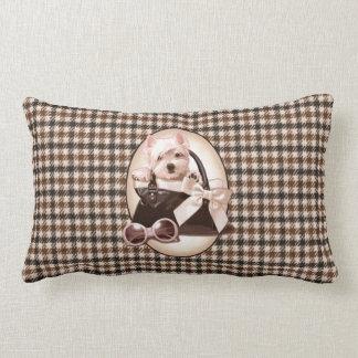 Houndstooth Westie puppy Pillows