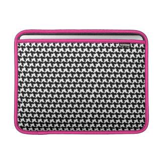Houndstooth y manga de aire rosada de Macbook Funda Macbook Air