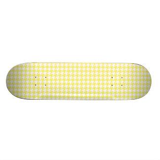 Houndstooth Yellow and White Custom Skateboard