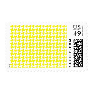 Houndstooth YELLOW ANY COLOR BACKGROUND Postage