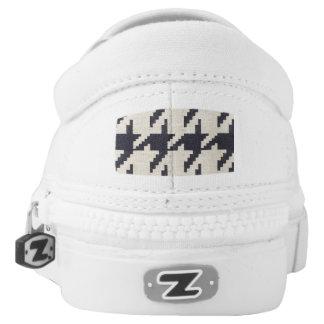 Houndstooth Zips Sneakers