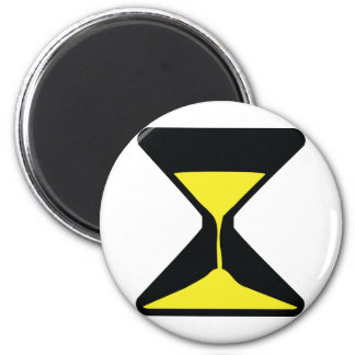 hour glass icon 2 inch round magnet