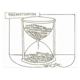 Hour glass: Procrastination, Tomorrow- Yesterday Postcard