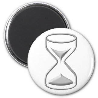 Hour Glass / Timer 2 Inch Round Magnet