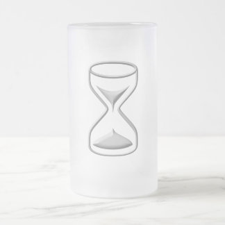 Hour Glass / Timer 16 Oz Frosted Glass Beer Mug