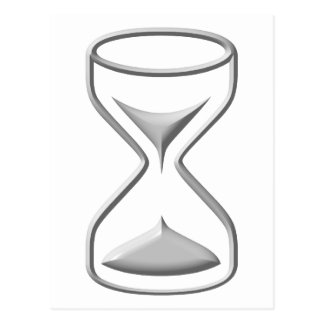 Hour Glass / Timer Postcard