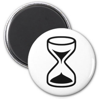 Hourglass 2 Inch Round Magnet